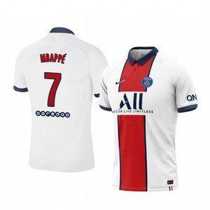 Paris Saint-Germain Kylian Mbappe White Jersey